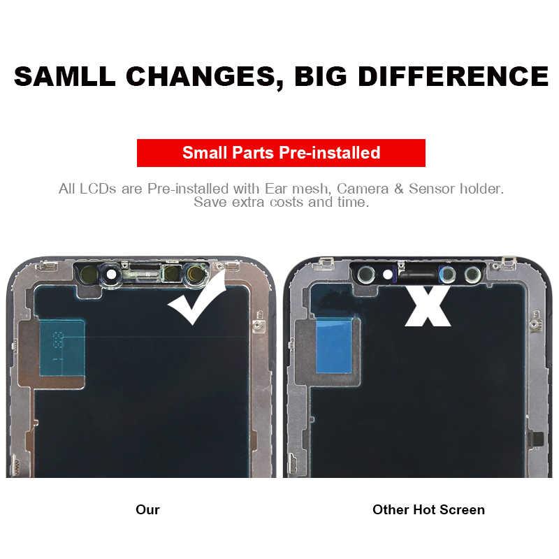 Iphone × Lcd ディスプレイ 3D タッチスクリーングレード天馬 OLED OEM デジタイザの交換組立部品黒