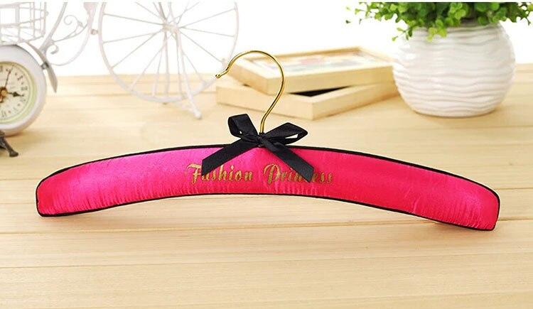 Hanger Wereld Top Kwaliteit Fashion Queen Pastel Satin Padded Hangers Voor Lingerie (16 Stuks/partij) - 4