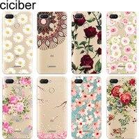 Ciciber Telefon Fall für Xiaomi MIX MAX 3 2 1 S Pro Weiche TPU für Xiaomi MI A2 A1 8 9 6 5 X 5C 5S Plus Lite SE Poco F1 Blume Rose