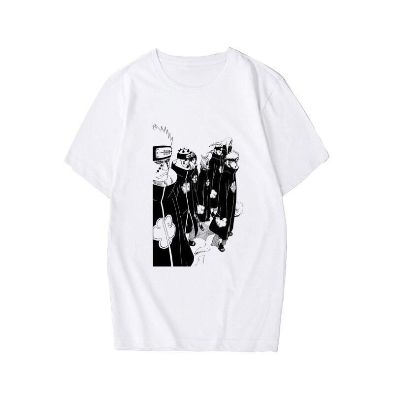 Men's tshirt Naruto Summer Harajuku Cool Unisex Short Sleeve t shirt Japanese Anime Funny Printed Streetwear Plus size T-shirt