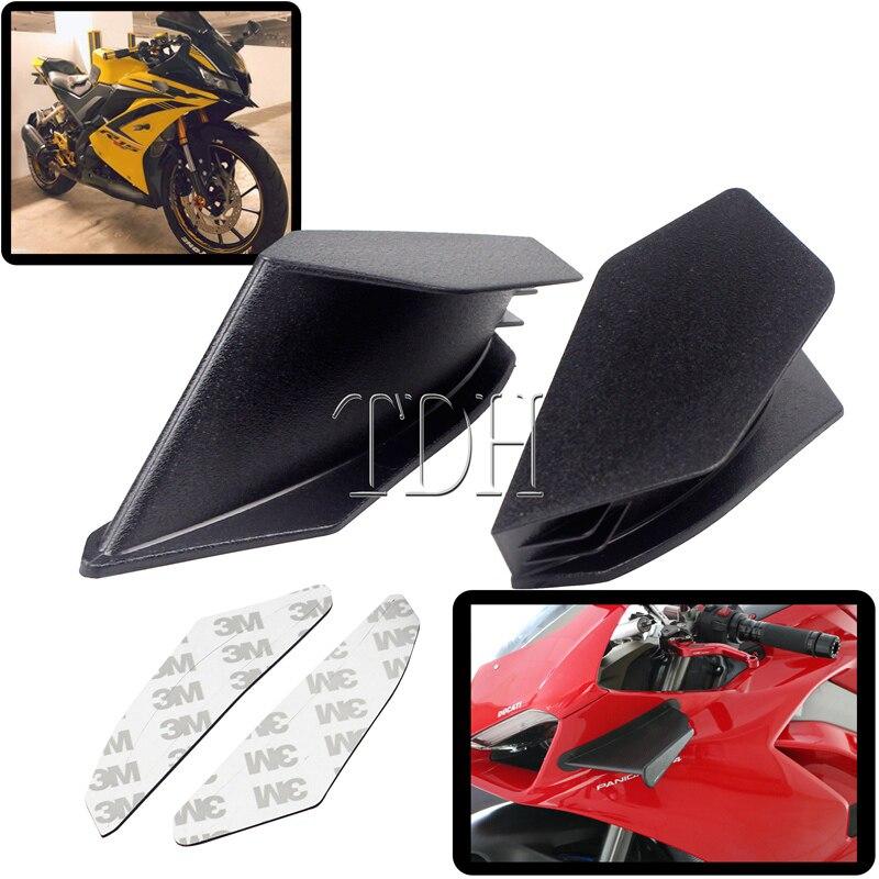 2X черный красный белый синий пластиковый Мотоцикл Скутер динамический комплект крыла Winglet с наклейкой для Honda Suzuki Yamaha Kawasaki BMW