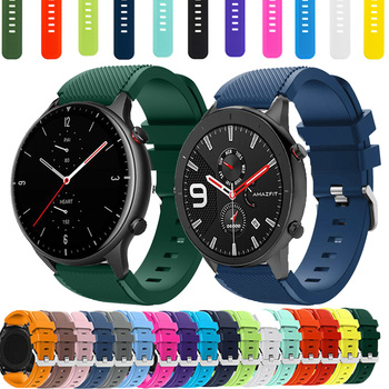 22mm Silicone Band For Xiaomi Huami Amazfit GTR 47/Haylou Solar LS05/Color High Quality Sports Strap For Amazfit Stratos 3/2/2S image