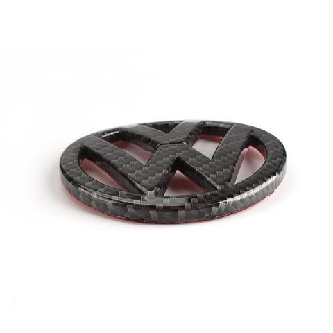 emblema de fibra carbono 90mm para