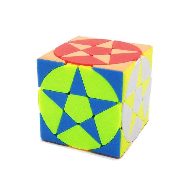 Magic Pentacle Cube Profissional Strange-shape Stars Pentagram Magic Cube Competition Speed Puzzle Cubes Toys For Children Kids 1