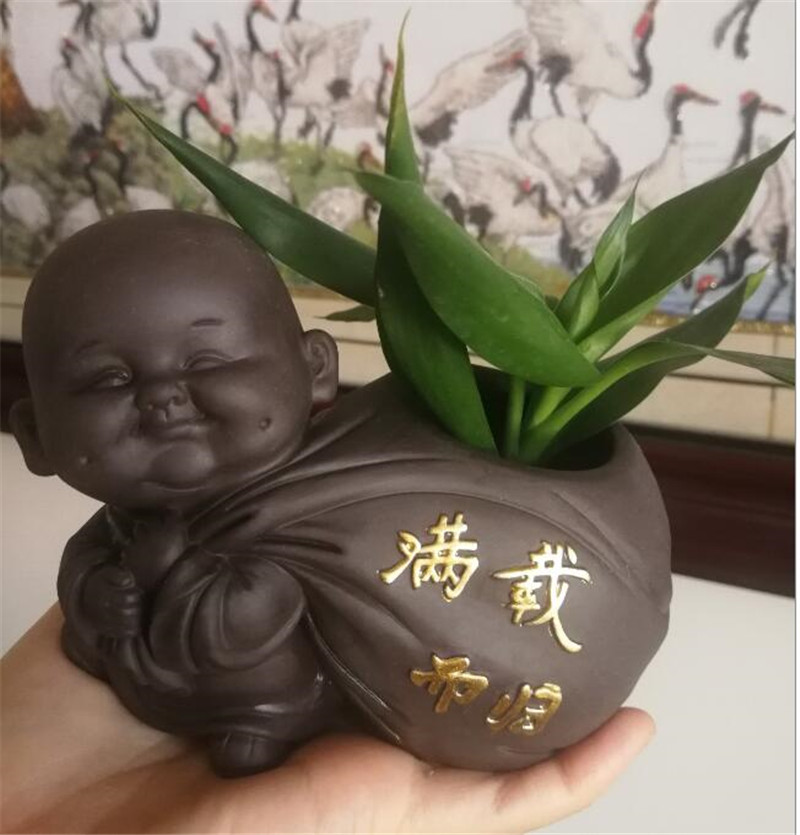 pequeno buda estátua monge estatueta ornamentos desktop