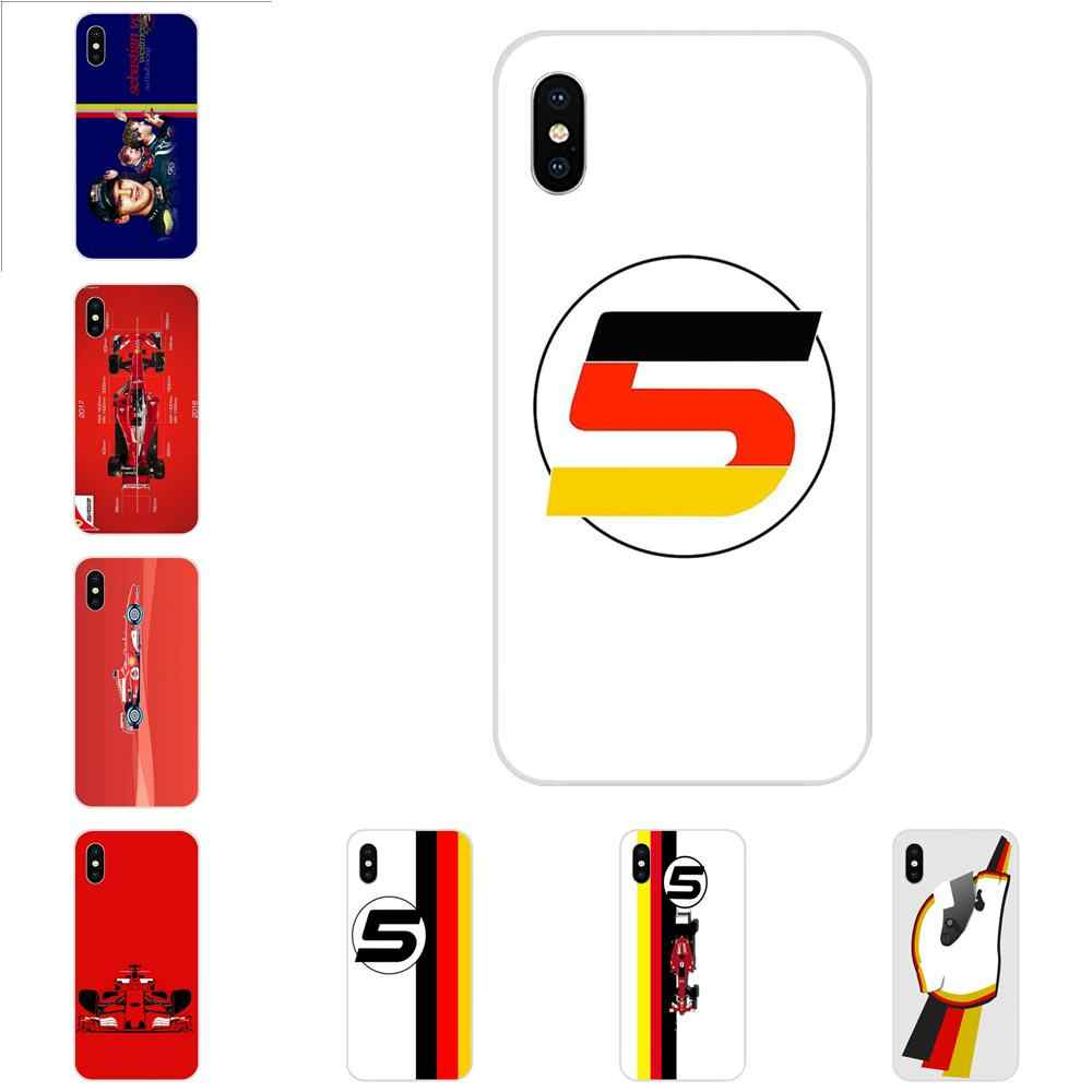 For Apple iPhone 4 4S 5 5C 5S SE 6 6S 7 8 Plus X XS Max XR Soft TPU Capa Case Racing Sebastian Vettel 5