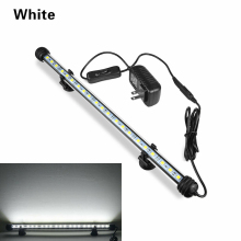Newest Fish Tank RGB LED Light Bar Strip Submersible Waterproof Lamp Crystal Glass Lights