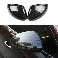 2Pcs Side Rear View Mirror Cover Trim for Porsche Macan 2011-2021 Carbon Fiber Side Wing Mirror Caps