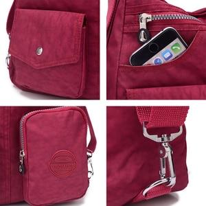 Image 5 - Nylon Women Backpack Natural School Bags for Teenager Casual Female Preppy Style Shoulder Bags Mochila Travel Bookbag Knapsack