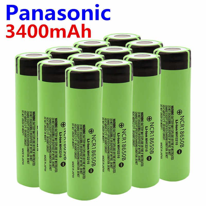 باناسونيك 100% بطارية أصلية 18650 NCR18650B 3.7 فولت 3400 mah 18650 بطاريّة ليثيوم قابلة لإعادة الشحن لبطاريات الكشاف