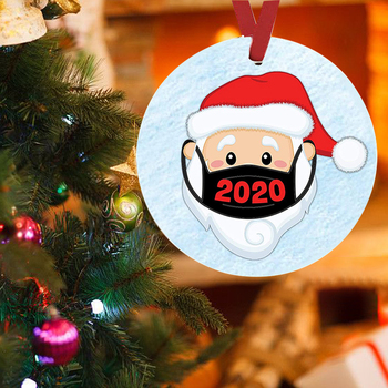 2020 Christmas Ornaments PET Ornaments Cute Santa Clause Handmade Family Xmas Tree Decoration 4in image