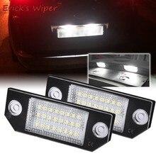 Erick-limpiaparabrisas 2x LED para placa de matrícula, lámparas de luz, actualización de iluminación para Ford Focus 2 ST 225 C Max 2003 2004 2005