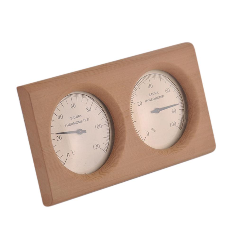 Sala de Sauna de Madeira Sauna a Vapor Medidor de Umidade Banho e Sauna 2 em 1 Termômetro Higrômetro Sala Instrumento Interno Uso