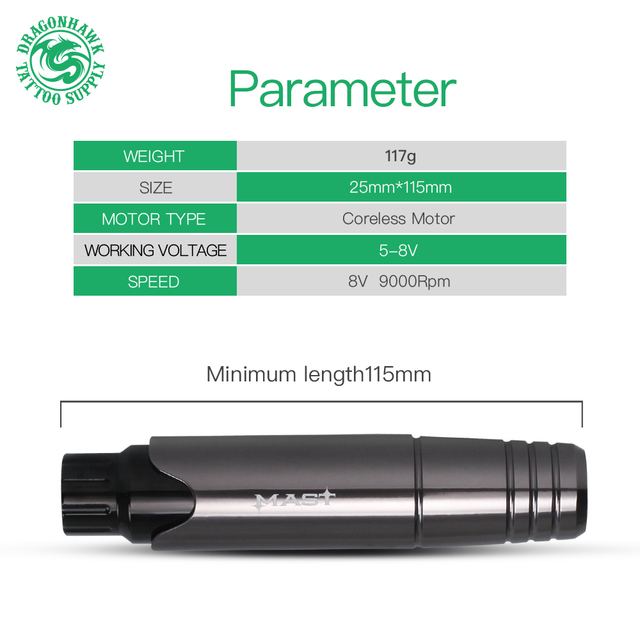 Professional Tattoo Kit Permanent Makeup Machine Set Tattoo Rotary Pen LCD Power Supply for Tattoo Artist 2