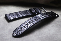 Om kwaliteit handgemaakte zacht en glad ultra dunne 16mm 18mm 19mm 20mm 21mm 22mm Amerikaanse krokodil leer Bruin Horlogeband-in Horlogebanden van Horloges op