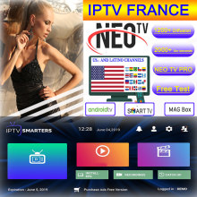 Francese IPTV 1 Anno NEO TV IPTV Susbcription IPTV Francia Spagna USA Marocco Belgio Arabo IPTV di Android tv Box IP TV Smart TV(China)