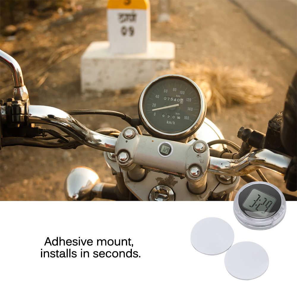 Novo mini precisão relógios de motocicleta relógio à prova dwaterproof água preto vara-em moto montar relógio de moto digital com cronômetro