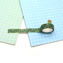 2pcs/lot Green Frog Scrapbooking Stickers Daily Handbook Diary DIY Decorative Sticker Paper Customized Tape D6