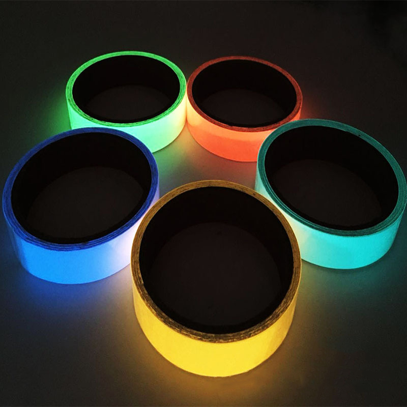 Self-adhesive Luminous Tape Strip Glow In The Dark Green Home Decor Used On Concrete Floors Stair Treads Risers 3M