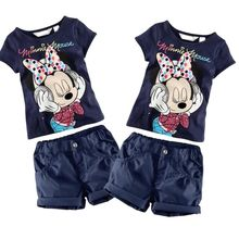 Kids Baby Boys Girls Minnie Mouse Summer T-Shirt Tops+Shorts
