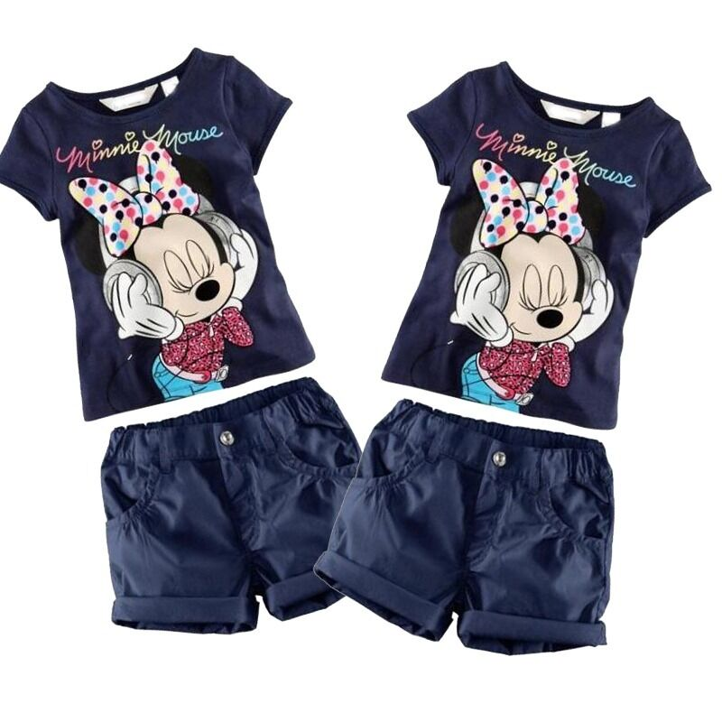 Kids Baby Boys Girls  Summer T-Shirt Tops+Shorts Pants Set Outfit