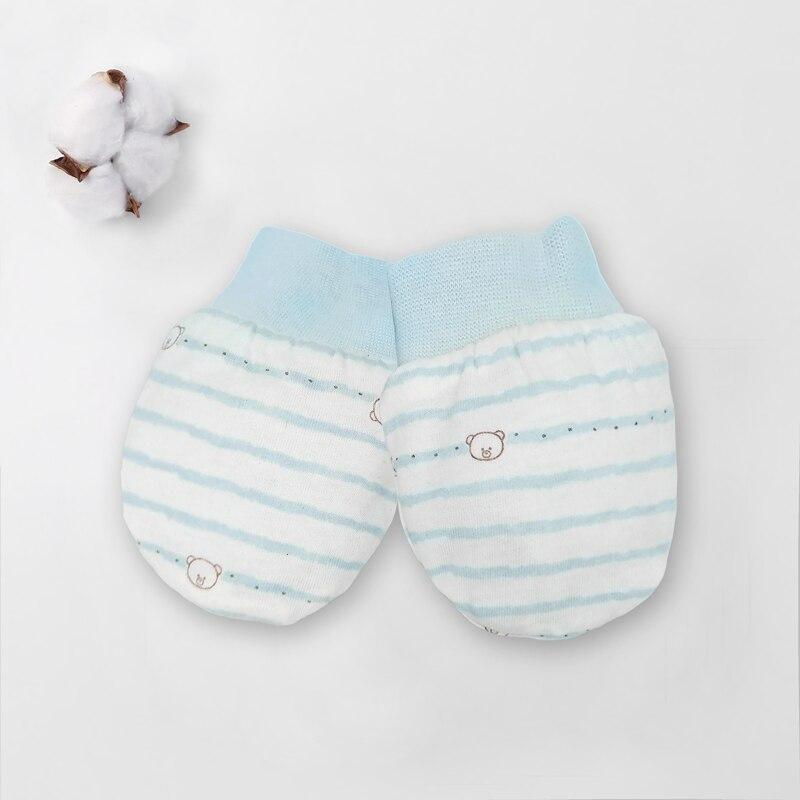 Зима осень хлопок детские перчатки неонатальные перчатки удобные дышащие детские перчатки новорожденная детская рукавица - Цвет: 1 Pairs