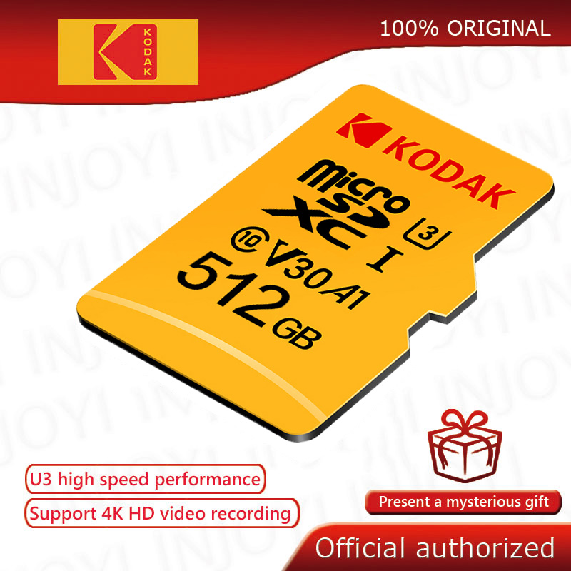 Kodak Micro-Sd-Card Flash 512GB Class Cartao U3 De 32G High-Speed C10 Original 128GB title=