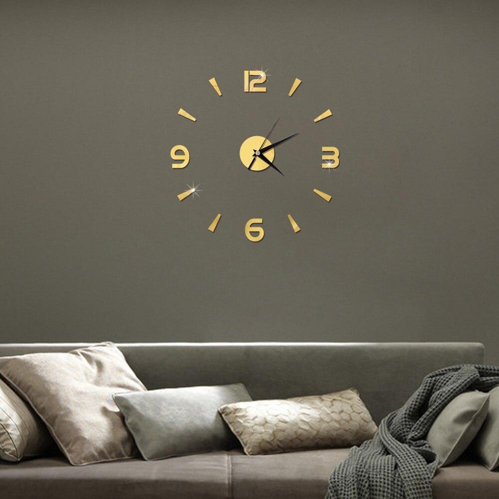 2019 New 3D Wall Clock Mirror Wall Stickers Fashion Living Room Quartz Watch DIY Home Decoration Clocks Sticker reloj de pared 7