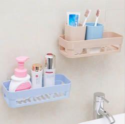 Ванная комната дыропробивные seamless настенные полки стеллаж для хранения Промытые принадлежности Туалет xi bi стеллаж для хранения