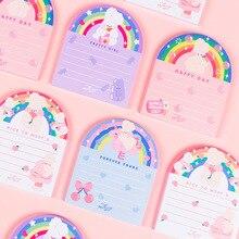 50 листов, Kawaii, Радужный кролик, блокнот для заметок, для девочек, на каждый день, сделай сам, блокнот, для заметок, Escolar Papelaria, школьные принадлежности, милые канцелярские принадлежности, подарок