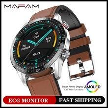 Mafam g5 bluetooth smartwatch música eletrônica relógio inteligente masculino ecg pedômetro relógio inteligente para xiaomi huawei ios pk l13 dt95