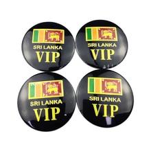 For Sri Lanka Flag Emblem Badge Car Wheel Hub Caps Sticker for Jeep Honda Civic Peugeot Volkswagen BMW E70 Tyre Accessories цена