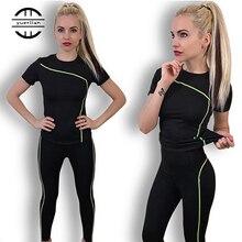 Быстросохнущий Женский комплект из 2 предметов, леггинсы с пузырьками и высокой талией, рубашка для йоги, уличная спортивная одежда, костюм для фитнеса, спортивный наряд для женщин