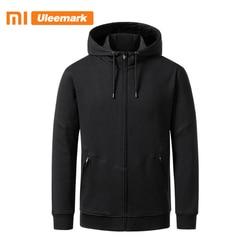 Мужская Трикотажная куртка Xiaomi, однотонная Базовая толстовка с капюшоном и молнией спереди, Uleemark