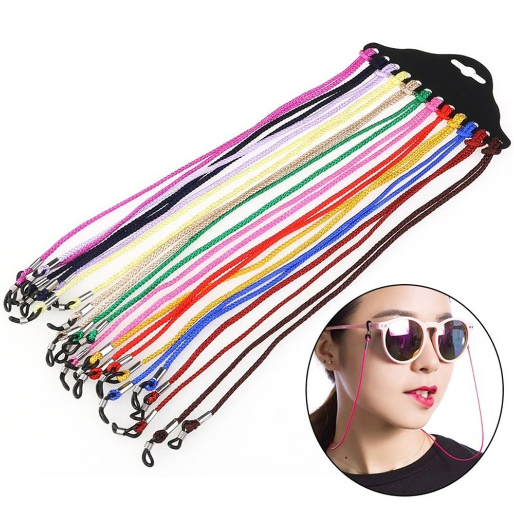 12Pcs//Lot Black Nylon Eyeglass Cord Reading Glass Eyewear Glasses Accessories