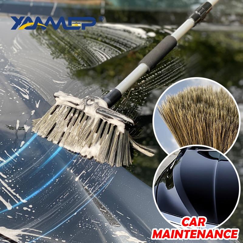Car Wash Brush Chenille Mop Cleaning Broom Water Flow Cleaning Windows Long Handle Foam Bottle Car Accessories Xammep