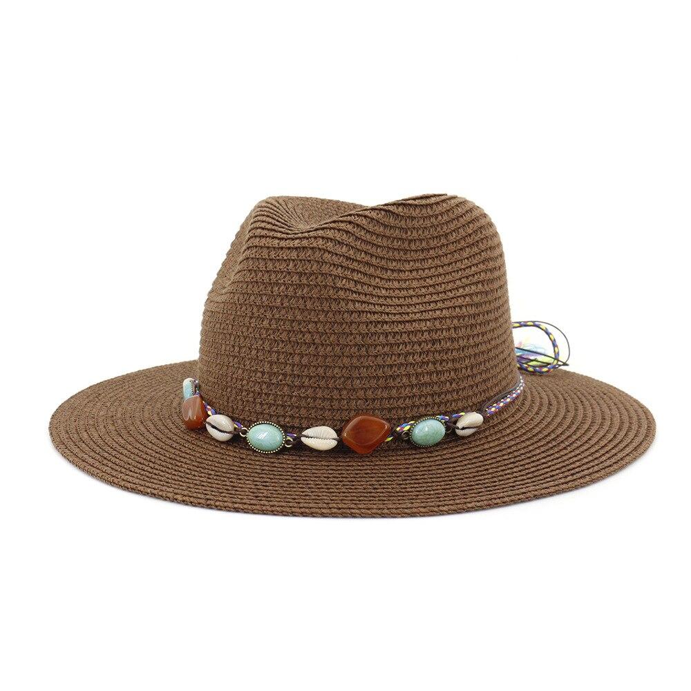 Drop Shipping 60cm Plus Size Fedora Lady Summer Beach Fashion Bucket Hat Dad Sun Cap Men Big Size Straw Hat