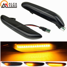 Dynamiczny LED błotnik światła obrysowe boczne dla BMW E60 E61 E90 E91 E87 E81 E83 E84 E88 E92 E93 E82 E46 1 3 5 serii x1 x3 2004 2010