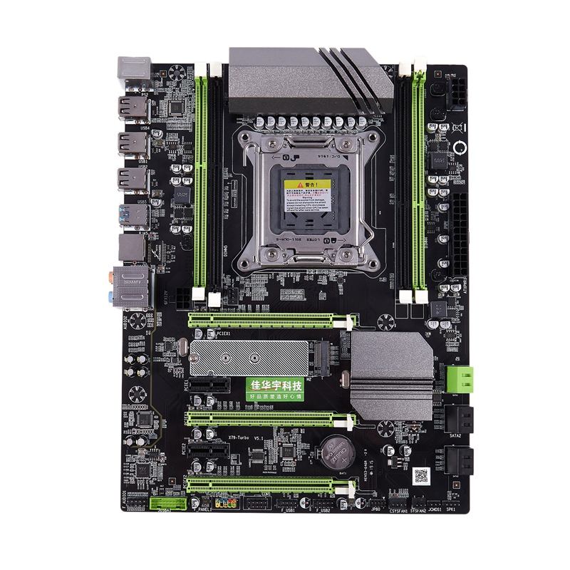 JIAHUAYU X79T DDR3 PC Desktop Computer Motherboard 2011 CPU 4 Channel Gaming Support M.2 E5-2680V2 I7 Sata 3.0 USB 3.0 For Intel