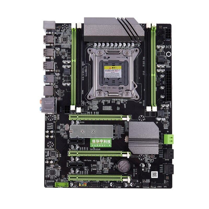 Jiahuayu x79t ddr3 computador desktop placa-mãe 2011 cpu 4 canais suporte para jogos m.2 E5-2680V2 i7 sata 3.0 usb 3.0 para intel