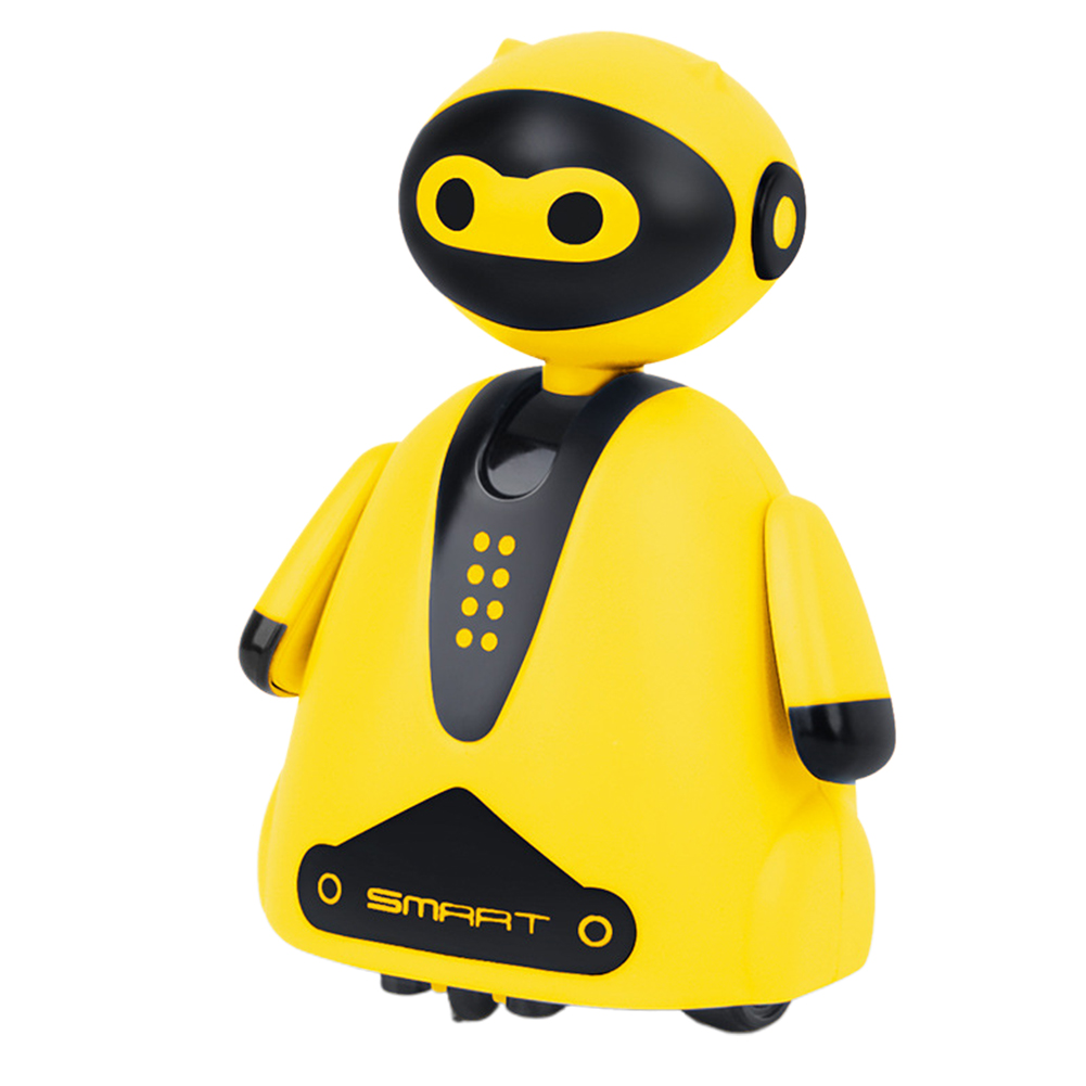 Cute Smart Electric Xmas Gift Children Toy Inductive Robot Pen With Light Music Home Kid Education Follow Any Drawn Line Mini