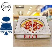 Qwell пищевая пицца металлические режущие штампы для скрапбукинга