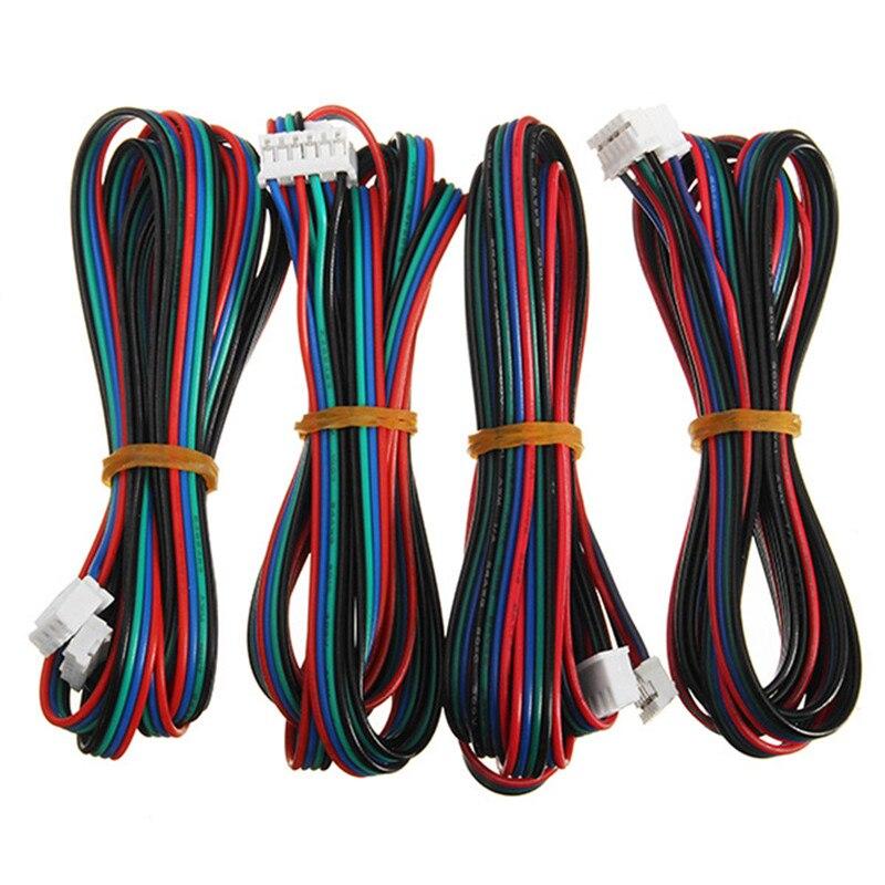 Купить 4 шт кабель шагового двигателя от 4pin до 6pin xh254 nema 17
