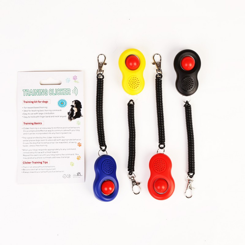 1PC Pet Dog Cat Training Clicker Plastic Adjustable Wrist Strap Sound Key Chain Dog Whistle|Dog Whistles| |  - AliExpress