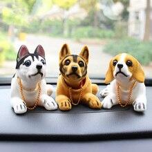 Auto Bambola Husky Beagle St Bernard Pastore Scuotere La Testa Del Cane Decorazione Auto Decorazione di Interni Carino Regalo Creativo Tavolo Ornamento