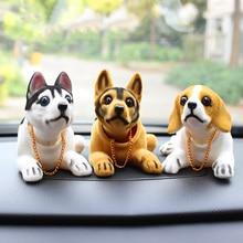 Voiture poupée Husky Beagle St Bernard berger secouer tête chien décoration voiture décoration intérieure mignon créatif cadeau ornement de table