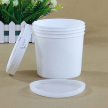 1000ml Home Kitchen Empty plastic jar Food Storage pot for cookie,Cereals Makeup Box with two Lids Hot sell