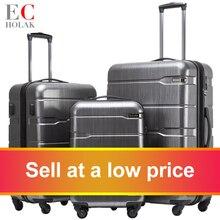 Bag Wheels Trolley-Case Luggage 3-Piece PC Drawbar 20'24'28'