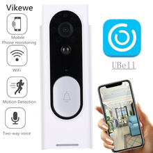купить Vikewe Smart WiFi Video Doorbell Camera Visual Intercom with Chime Night vision IP Door Bell Wireless Home Security Camera дешево