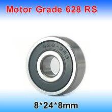 2 teile/los 628RS Rillenkugellager Miniatur Mini Lager Motor Grade 628RS 628-RS 8*24*8mm 8*24*8 628 2RS 52100 Chrom Stahl
